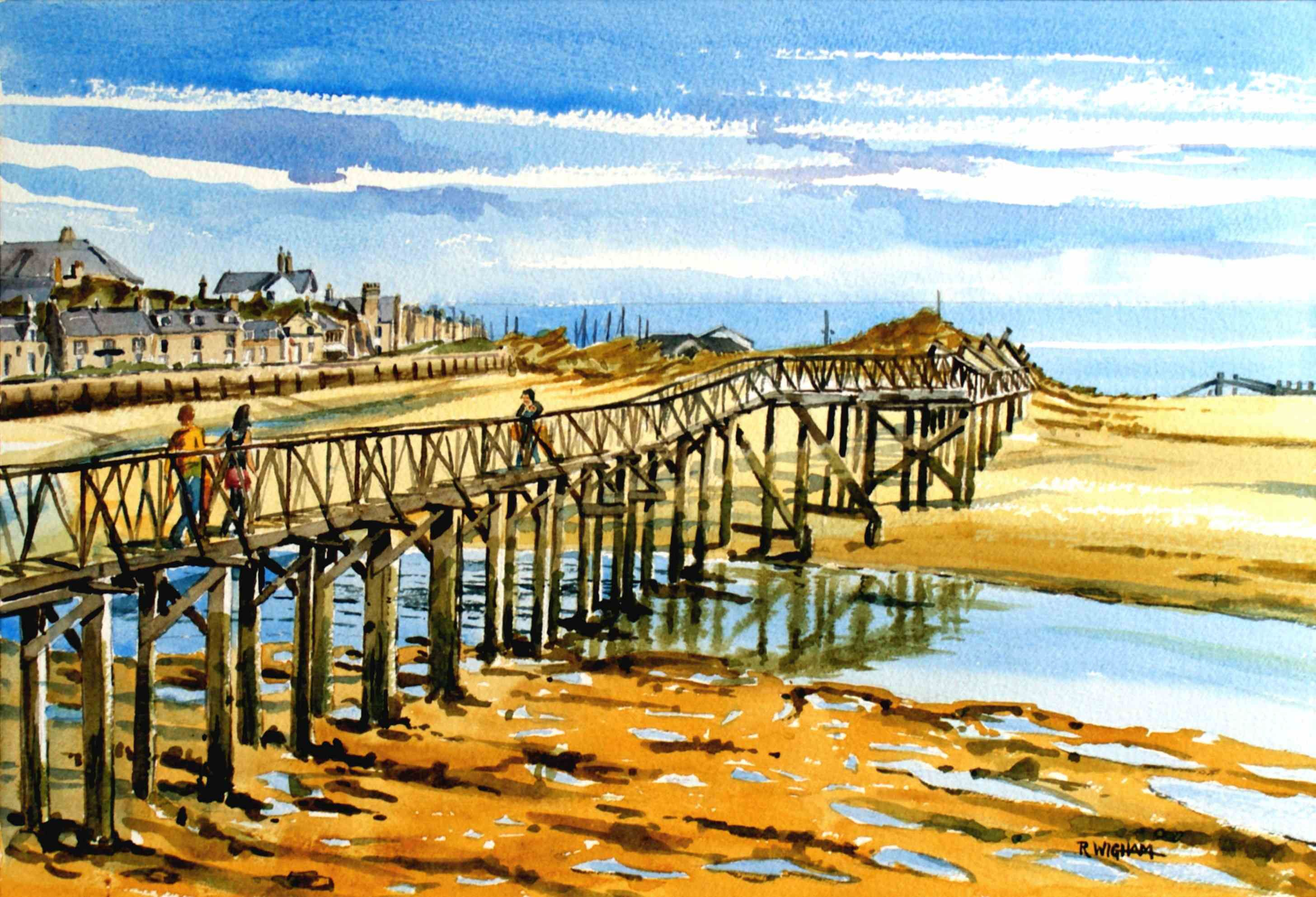 The Old Bridge Lossiemouth Watercolour Old Bridge Nature