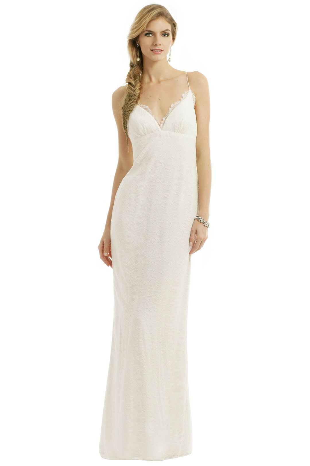 Nicole Miller Lace Fantasy Gown rent the runway Fantasy