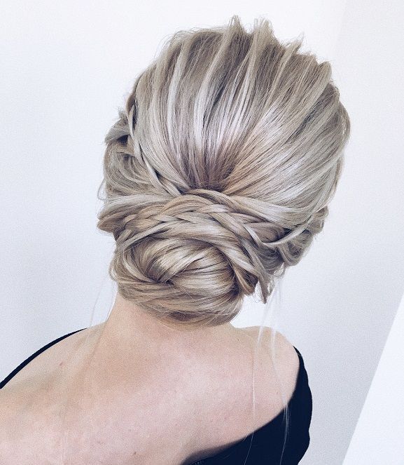Braided Updo Hairstyle Idea Pinterest Easy Updo Messy Updo And