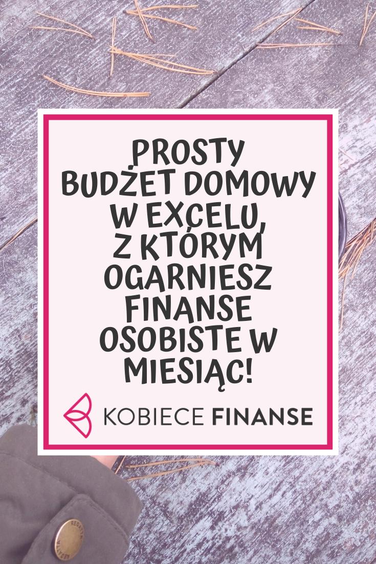Budzet Domowy W Excelu Prosty Arkusz Do Pobrania Budgeting Bujo Blog