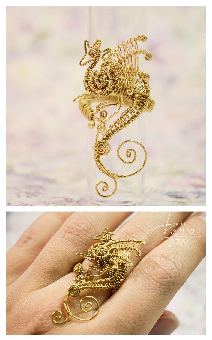 Ring Dragon By Dallia Art Dragon Jewelry Wire Wrapped Jewelry