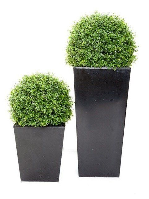 Artificial Topiary Balls In Planter Premium Outdoor Quality Artificial Plants Outdoor Artificial Topiary Small Artificial Plants