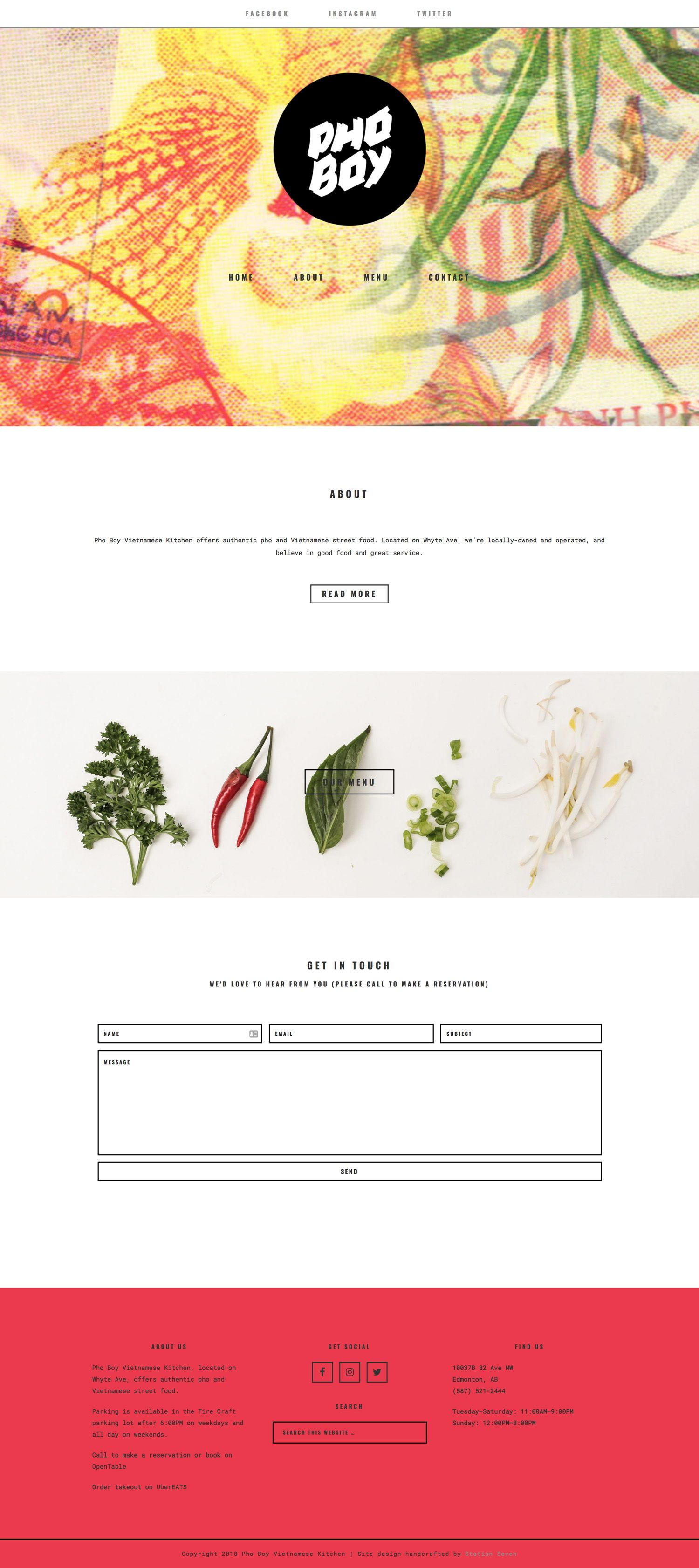 Pho Boy Restaurant Keeps Their Website Simple Minimalist And Absolutely Delicious Looking Wordpress Website Design Portfolio Website Design Restaurant Design