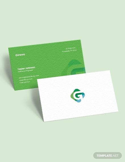 Software Engineer Business Card | Free business card ...