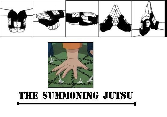 Summoning jutsu hand signs