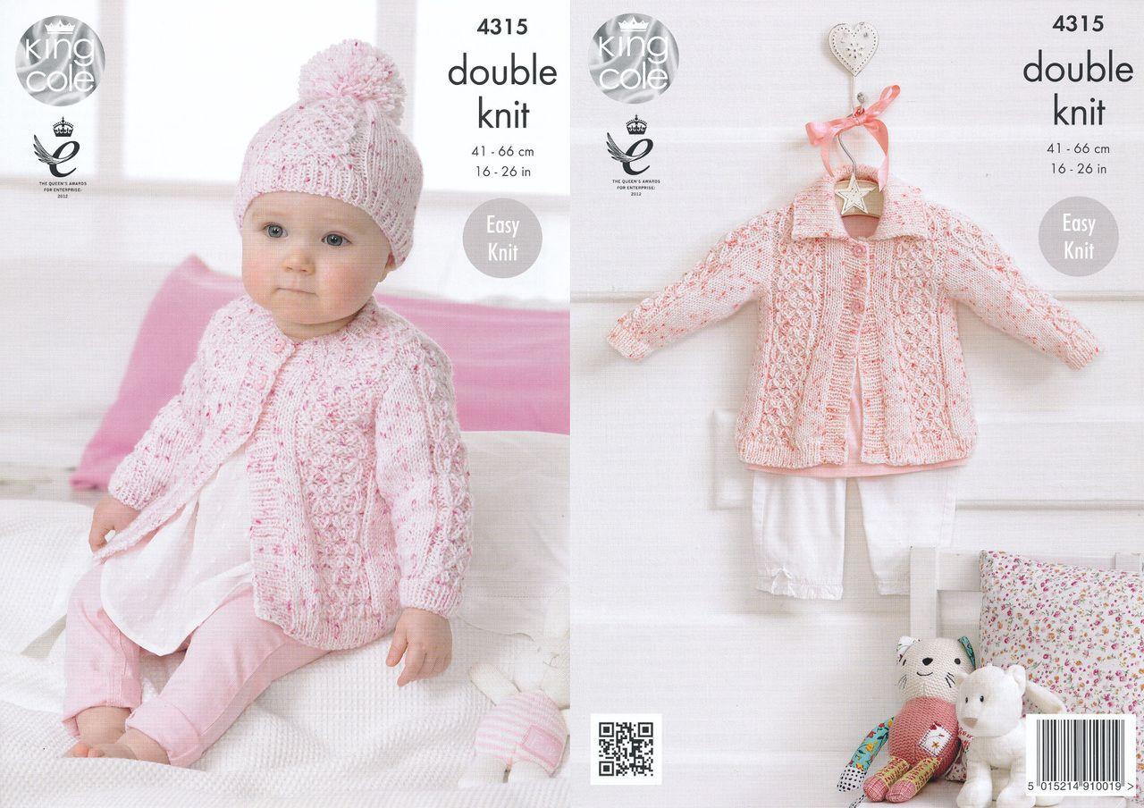 King cole double knitting pattern baby coat collared cardigan king cole double knitting pattern baby coat collared cardigan hat 4315 bankloansurffo Choice Image