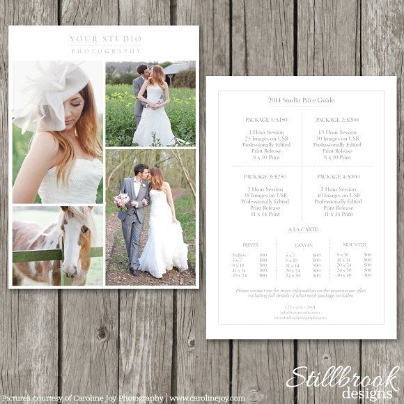 Pricing Guide Template - Price Sheet by Stillbrook Designs on - pricing sheet template