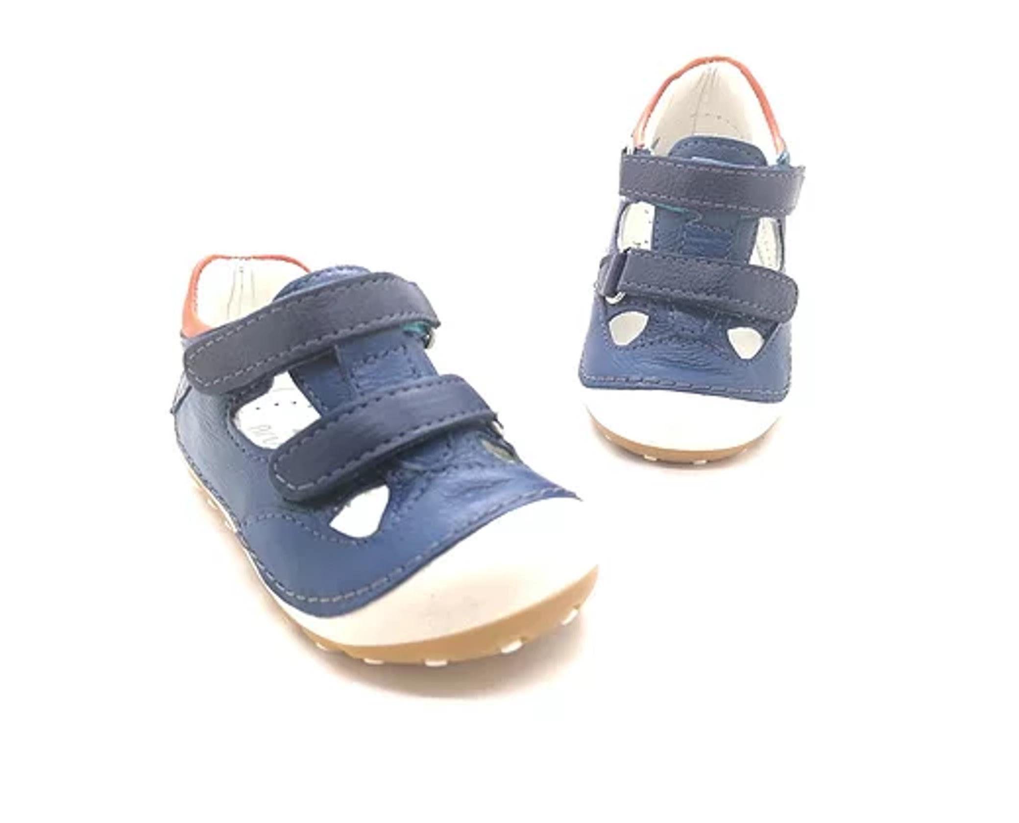 Genuine Leather Blue Velcro Blue Color Toddler Kid