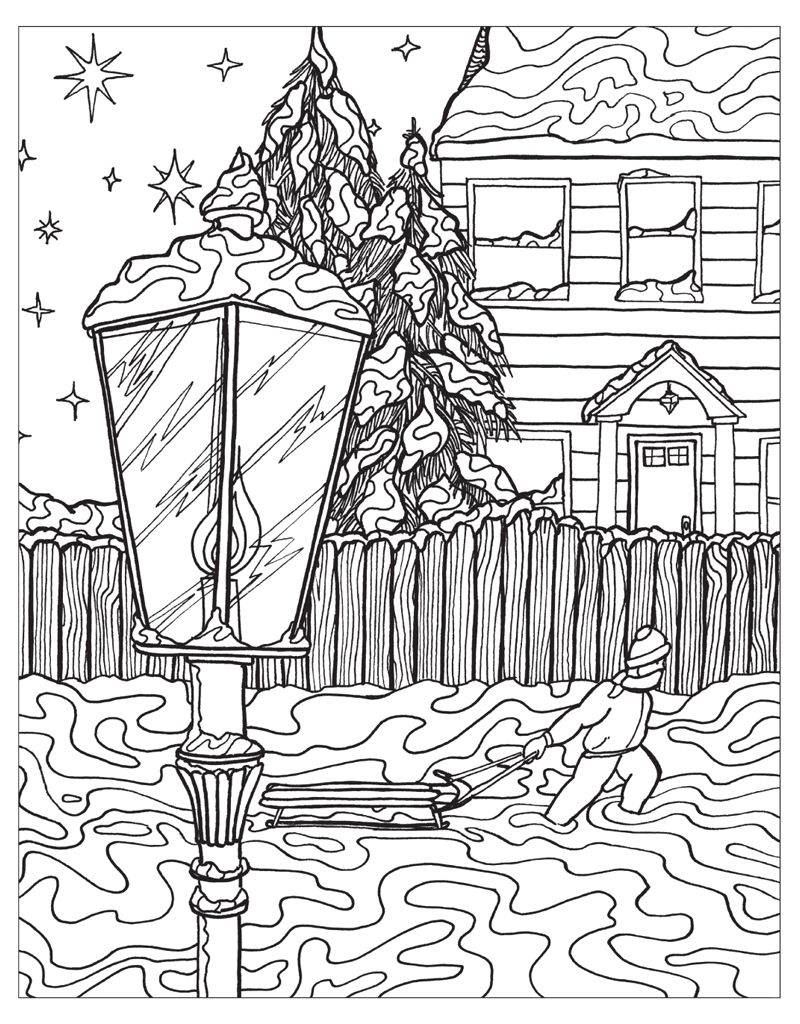 Zendoodle Coloring Winter Wonderland Winter Wonderland