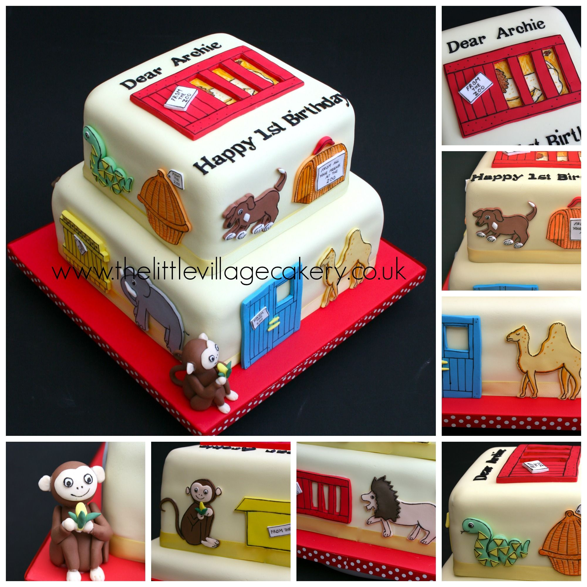 Two Tier Dear Zoo Themed Cake Thelittlevillagecakery