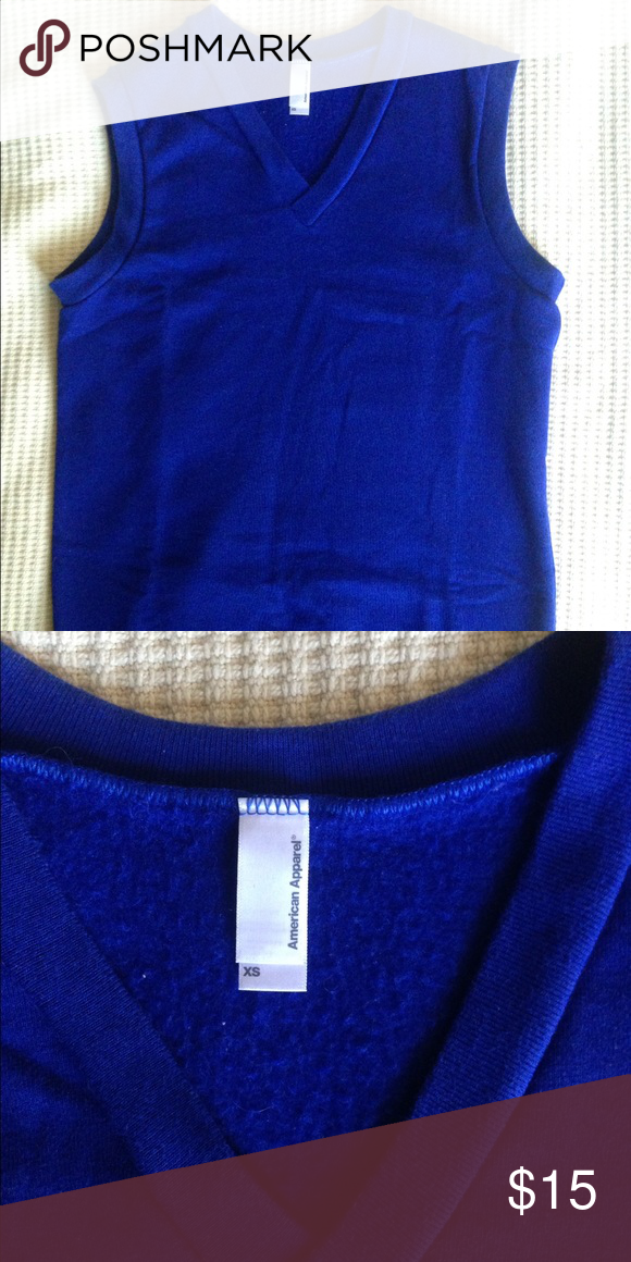Pull over Sweater vest Sweater vest by American Apparel in royal ...