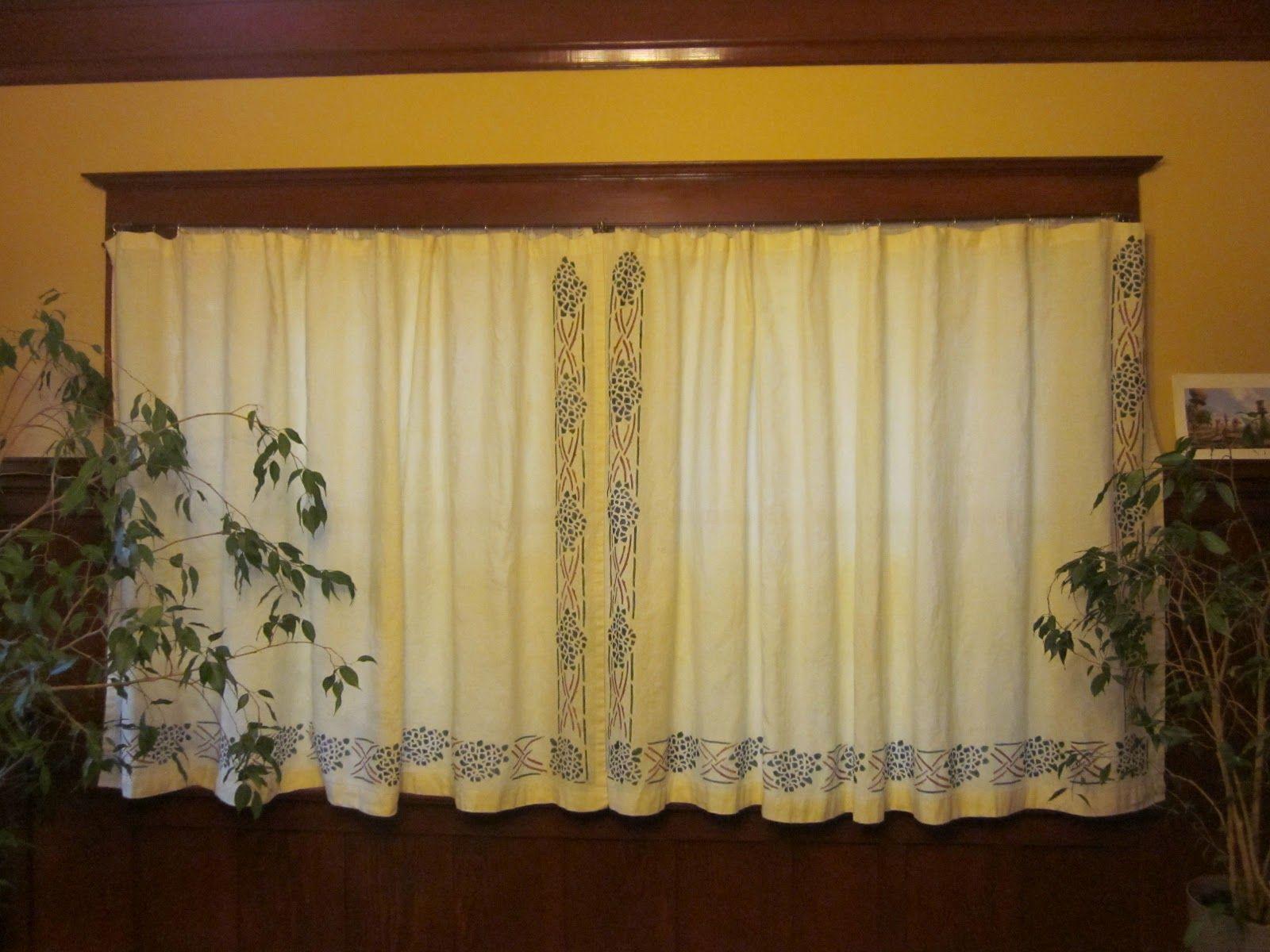 Laurelhurst 1912 Craftsman Dining Room Curtains Hung