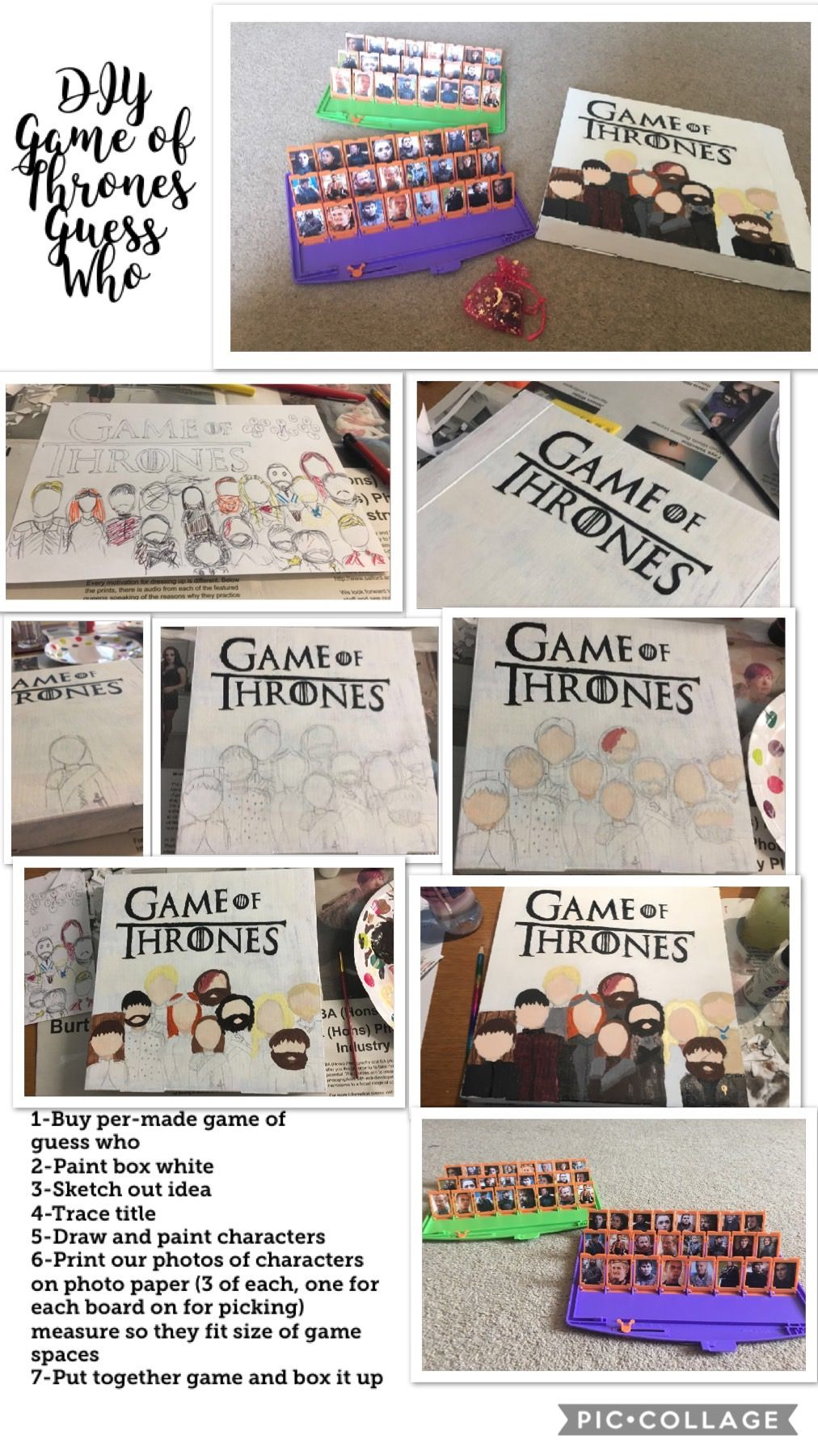 Game of Thrones Guess WhoDIY Present Diy presents
