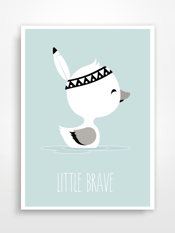 Affiche D Co Pour Chambre D Enfant Little Brave D Coration Pour