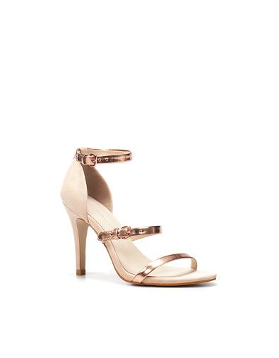ebbcaaed3d9f3 SANDAL WITH LAMINATED STRAPS - Woman - Shoes - ZARA United States ...