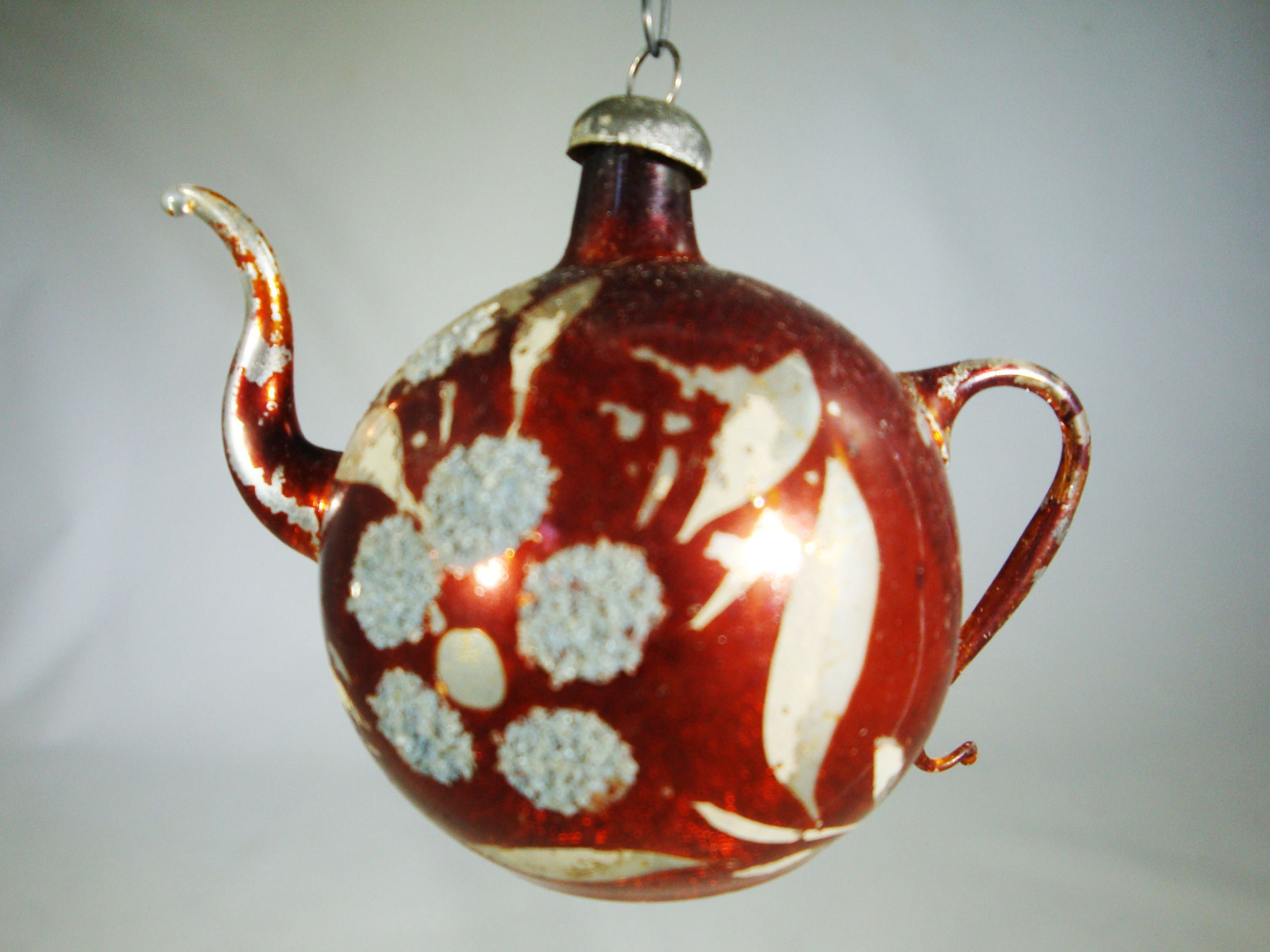 Lauscha Germany Glass Teapot Ornament Antique Early 1900 S German Hand Blown Glass Teapot Ornamen Teapot Ornament Antique Christmas Ornaments Hand Blown Glass