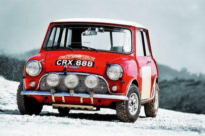 Mini Cooper Rally car Monte Carlo
