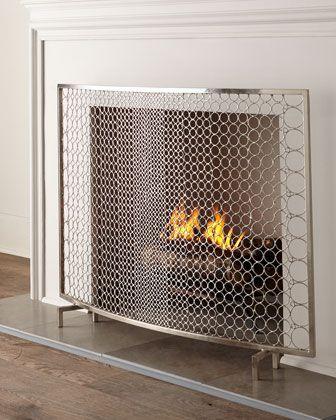 Interlude Home Sabrina Fireplace Screen Fireplace Screens