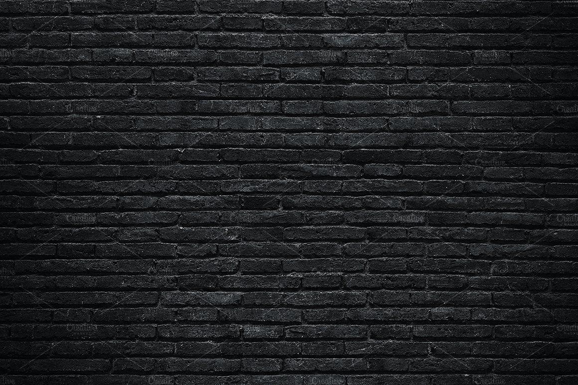 Black brick wall Black brick wall, Brick wall background