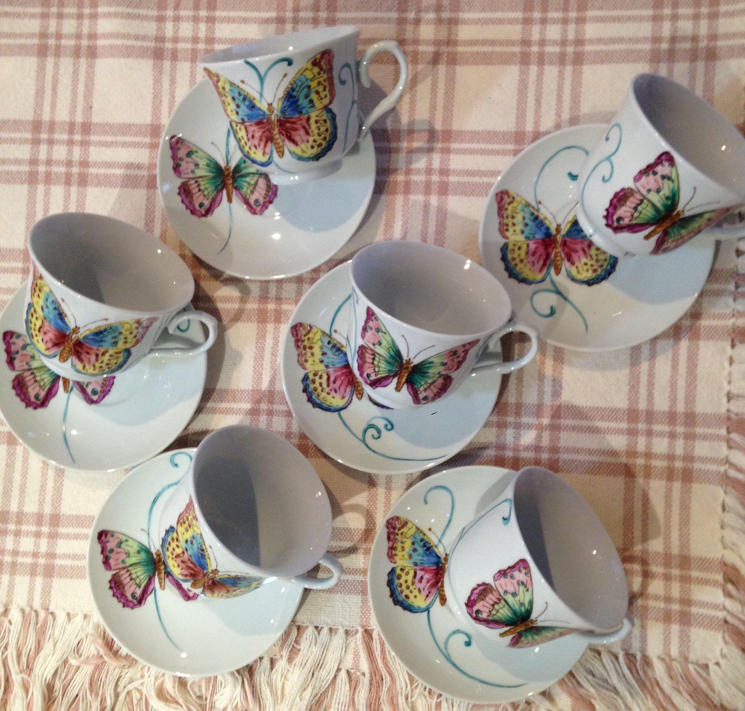 Conjunto Xicaras De Cha Pintura A Mao Arteemporcelanas Xicaras Pintadas Pintura Em Porcelanas Xicaras De Porcelana