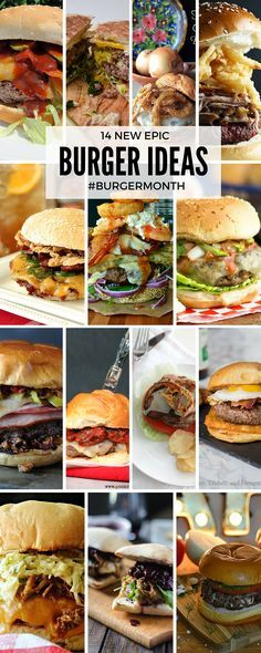 14 New epic burger ideas for BurgerMonth