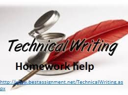 Technical writing homework help   Ssays for sale Technical writing help