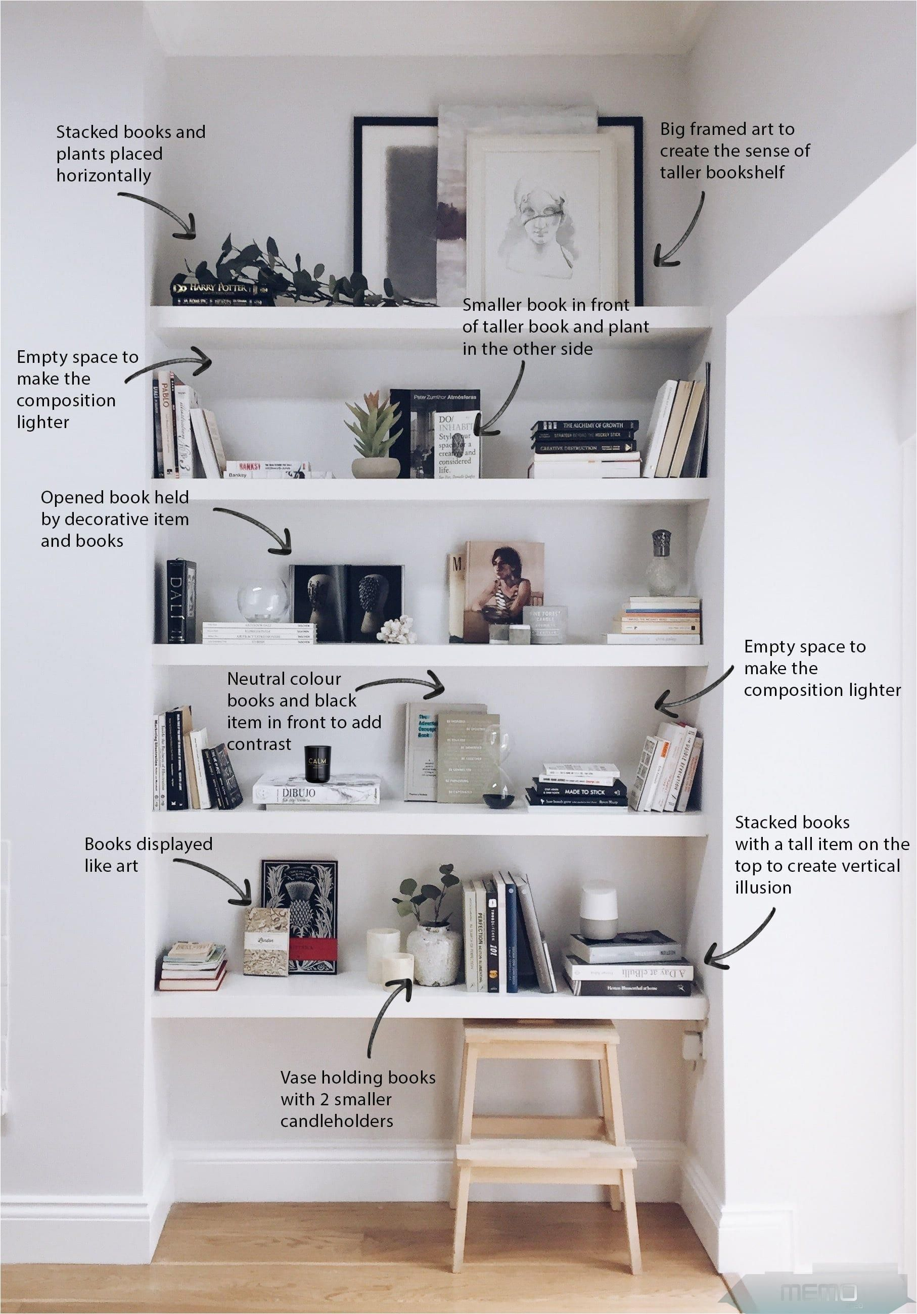 Jan 10, 10 - How to decorate your shelves in a minimal and
