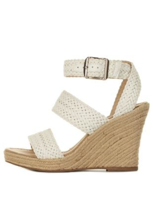 96993d6ccd6 White Braided Espadrille Wedge Sandals by Charlotte Russe