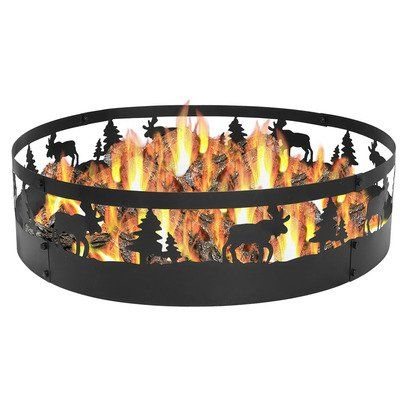 Sunnydaze Wild Moose Campfire Ring 36 Inch Diameter See This Great Product Note It S An Affiliate Link To Amazon With Images Fire Pit Kit Fire Pit Outdoor Fire Pit