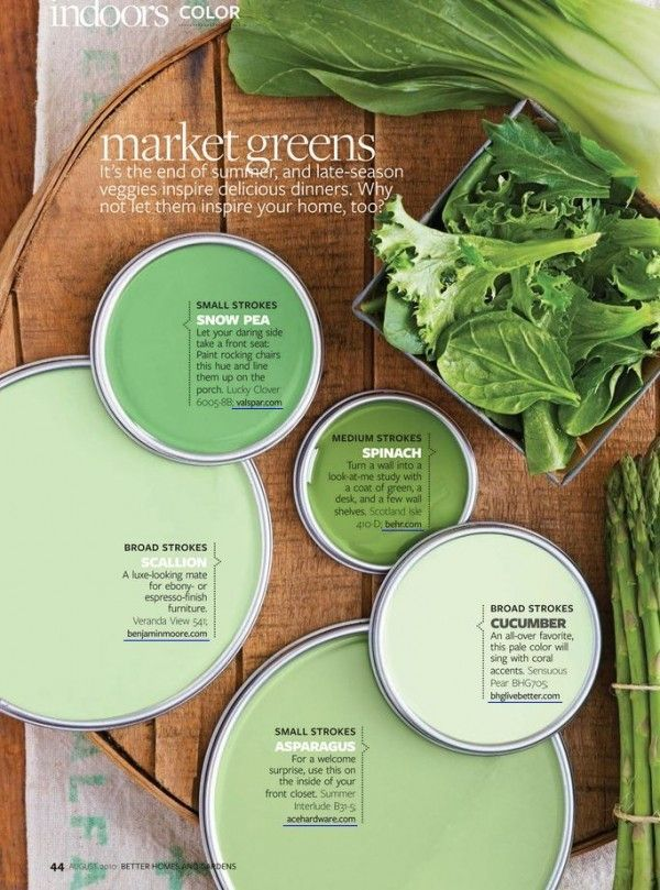 Photo of Market Greens Paint Colors