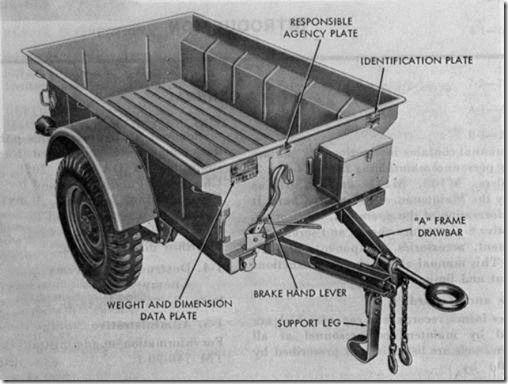 M-416 quarter ton trailer for the Jeep