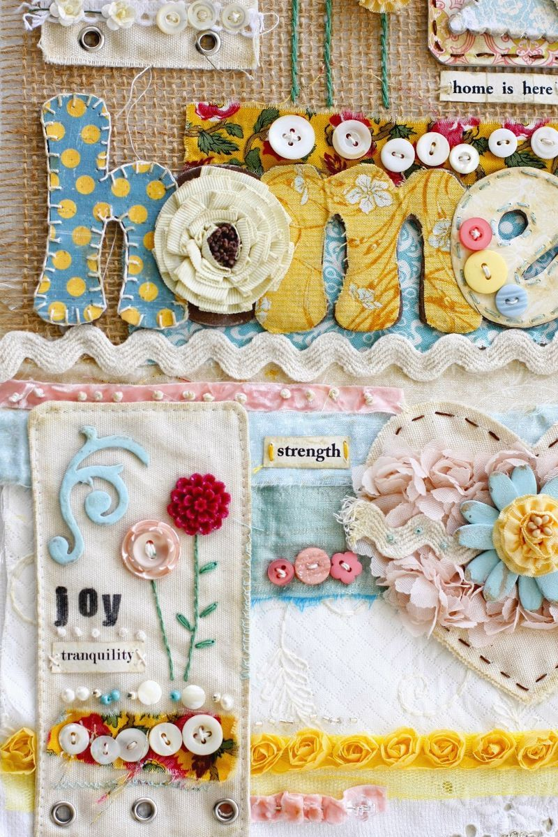lovely fabric mixed media piece   Art of all kinds ...