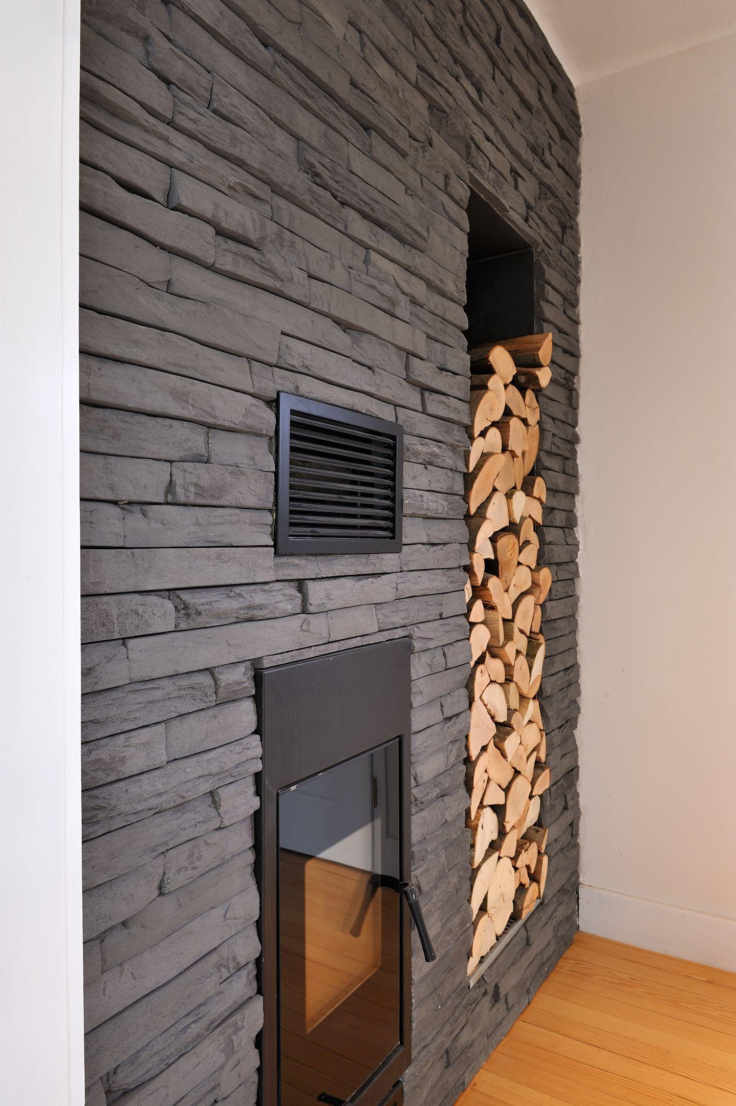 Auch für das Kaminzimmer eine schöne, saubere und elegante Lösung.