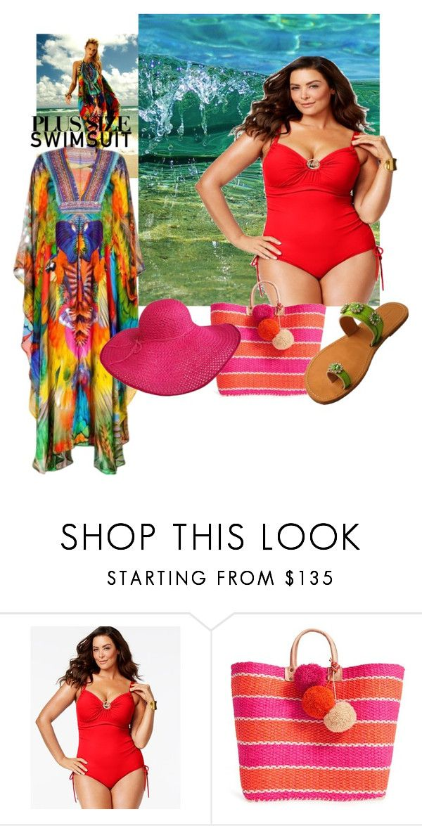 """""""stylish curves"""" by evachasioti ❤ liked on Polyvore featuring Michael Kors, Franks, Mar y Sol, stylishcurves and plussizeswimsuit"""