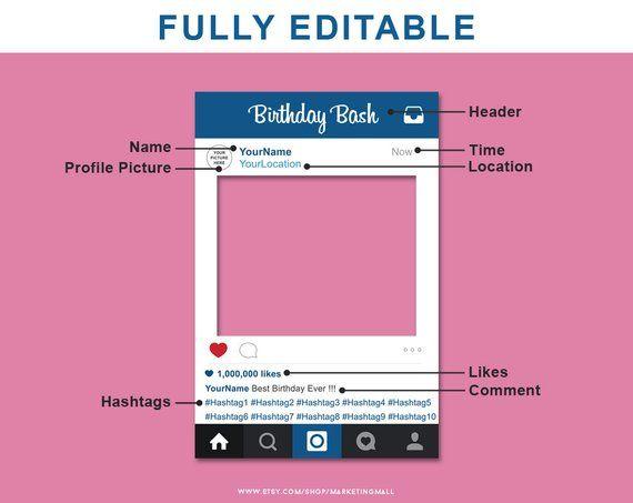 Social Media Photo Prop Frame Photo Booth Prop Diy Photo Prop
