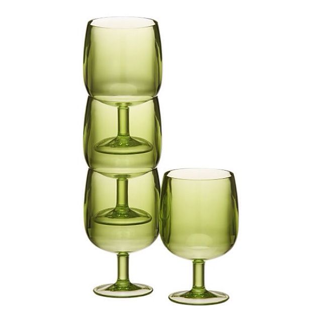 Stackable Wine Glasses. I Love these!