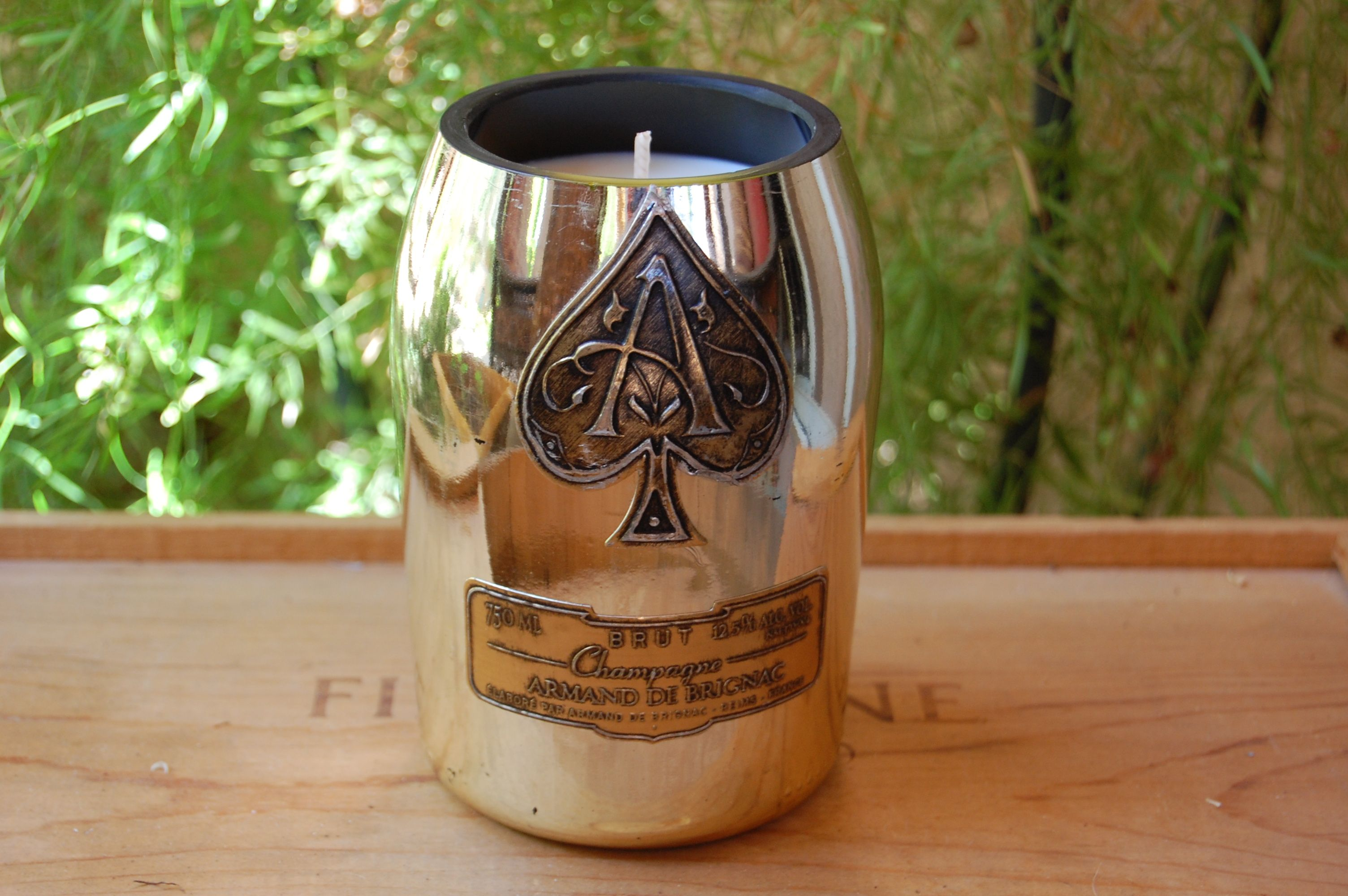Ace of spades bottle candle recycled wine bottle candles ace of spades bottle candle reviewsmspy