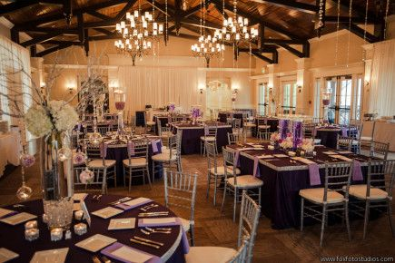 Nocatee Crosswater Hall Wedding Reception In Silver And Purple Photo By Fox Fotography Jacksonville
