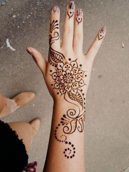 Cool Henna Tattoo Designs: Henna Tattoos Simple Hand Design Henna Pinterest Henna