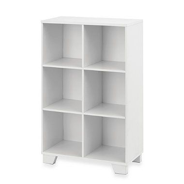 Real Simple 6 Cube Storage Unit In White Bedbathandbeyond Com