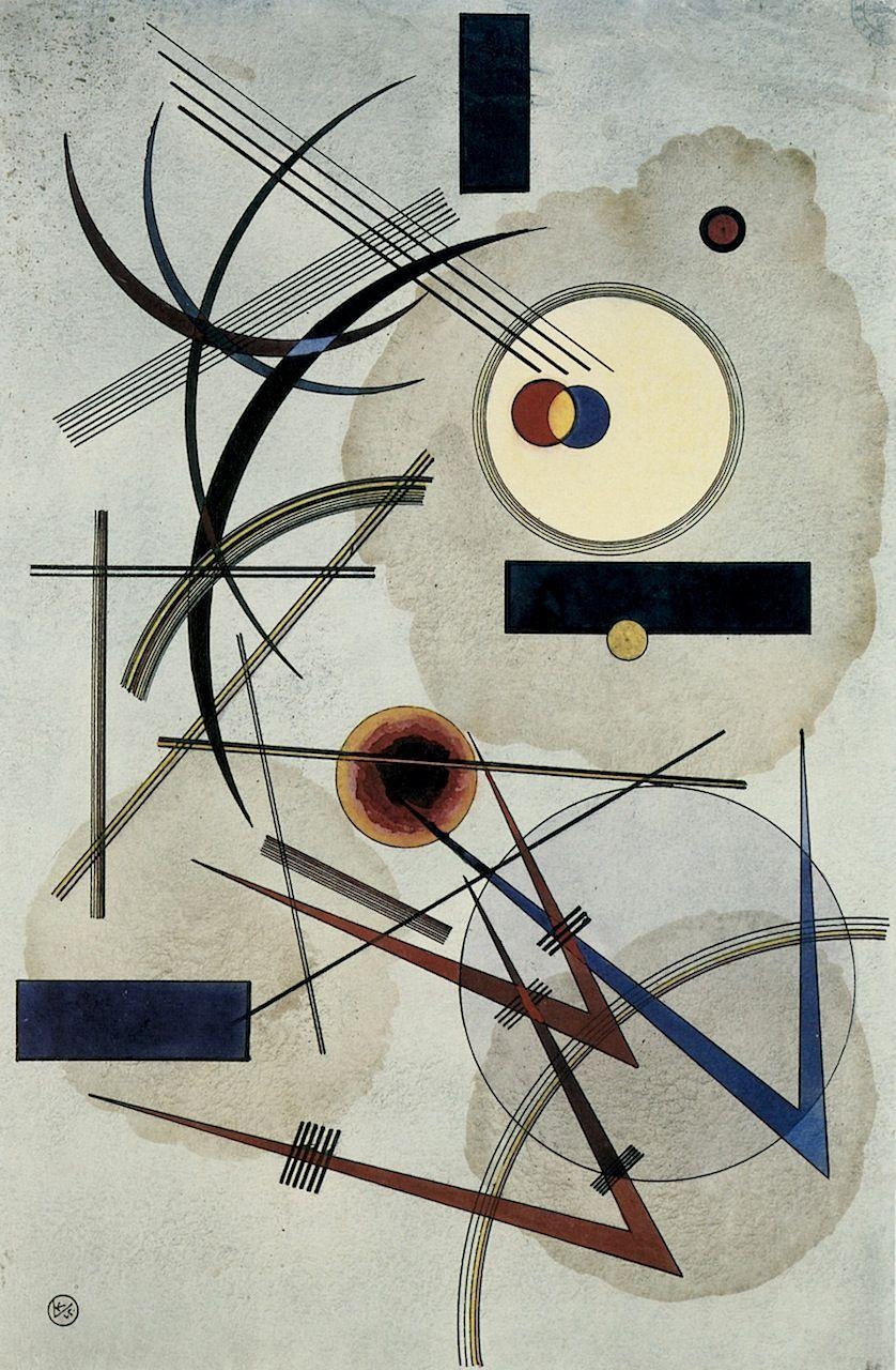 The Athenaeum Grey Blue Wassily Kandinsky Sily Kandinsky