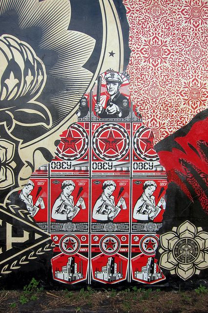 Shepard Fairey Mural @ Wynwood Walls