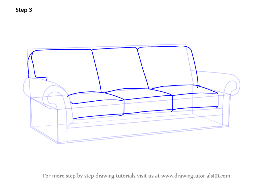 A Sofa Looks Difficult To Draw But It Is Indeed Easy With This Quick And Tutorial About How One