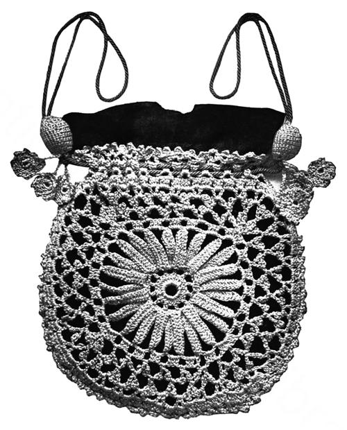 Zips & Darts: Princess Louise Crocheted Evening Bag - 1916 Corticelli Lessons in Crochet - Free Pattern Handarbeiten ☼ Crafts ☼ Labores  ✿❀⊱╮.•°LaVidaColorá°•.❀✿⊱╮  http://la-vida-colora.joomla.com