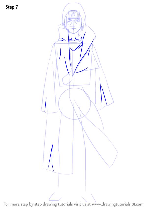 Learn How To Draw Itachi Uchiha From Naruto Naruto Step By Step Drawing Tutorials In 2021 Itachi Itachi Uchiha Naruto Sketch