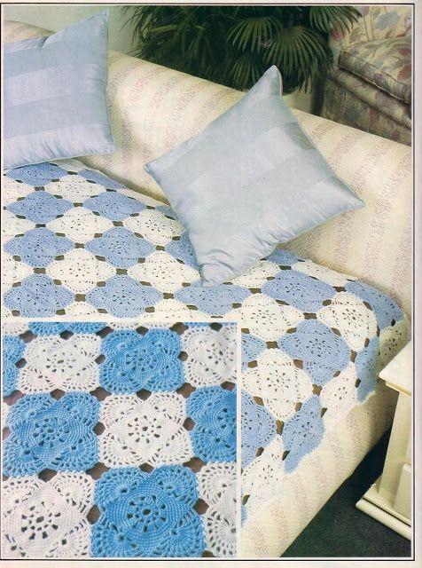 Crochet Bedspread Ee Pattern Crochetribart Love To Make 5