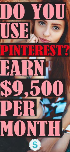9.500 US-Dollar pro Monat durch PINNING   – HOW TO MAKE MONEY ON PINTEREST