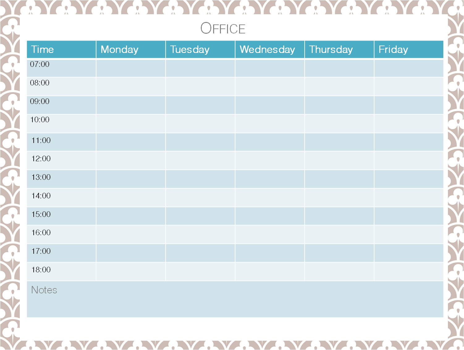 Need Help In The Office With A Weekly Schedule And Want It To Look