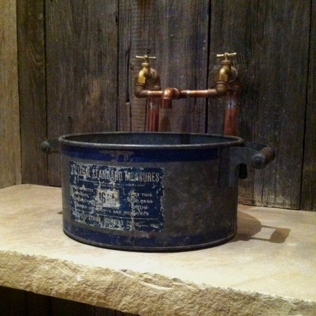 Rustic Pipe Faucets Powder Room Sinks Small Powder Room