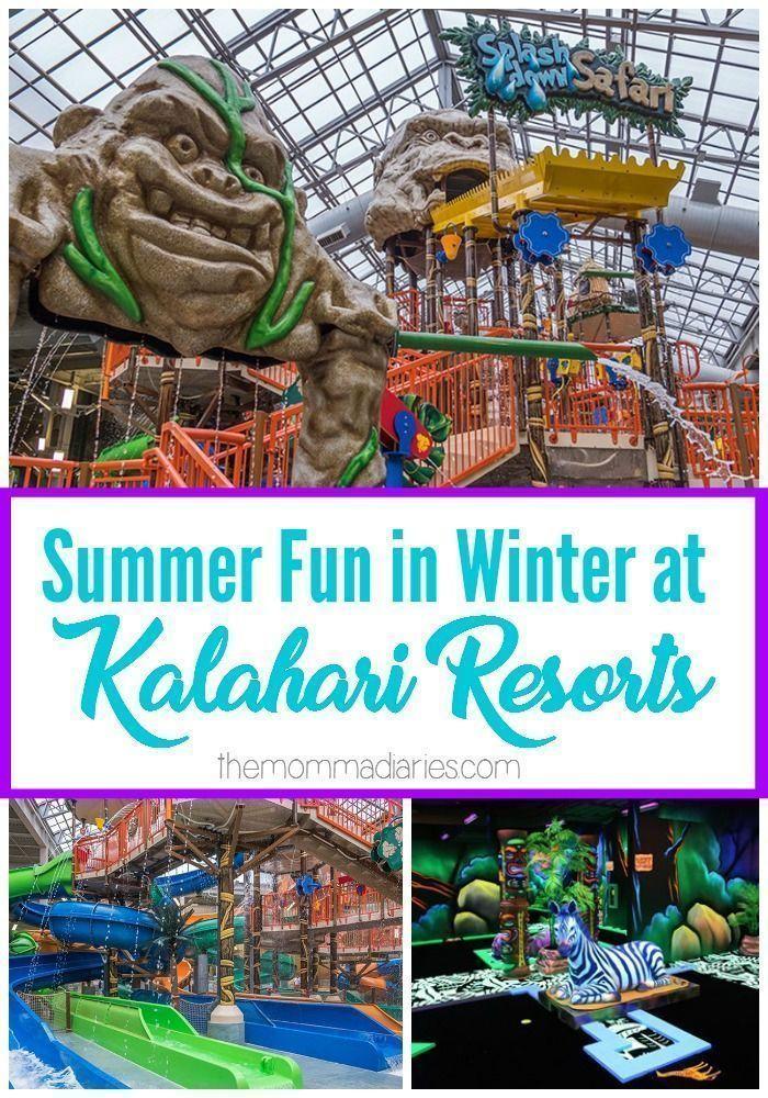 Kalahari Resorts, Poconos Mountains, Winter Travel